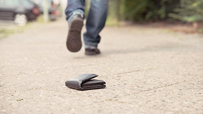 A wallet on the ground
