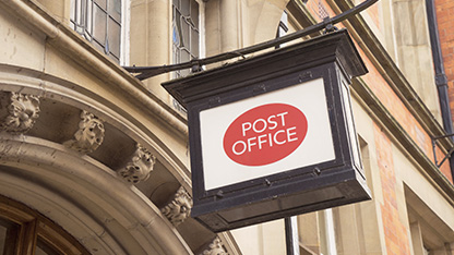 Post office branch sign