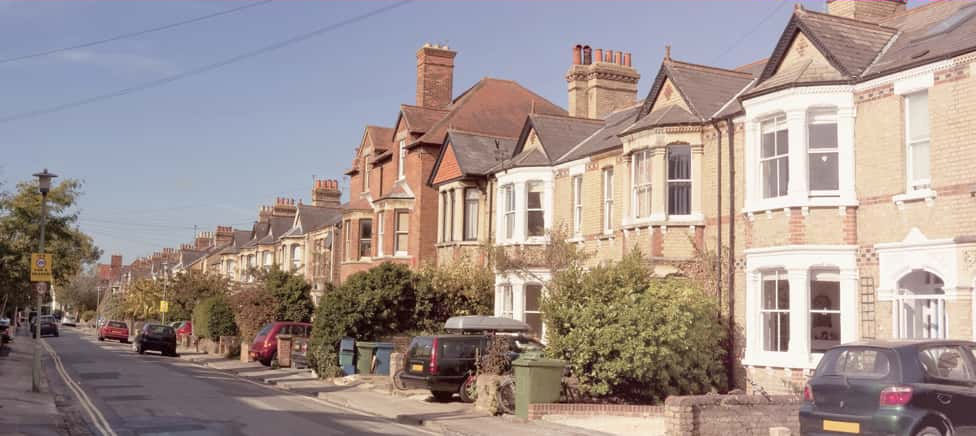 A row of terraced housed