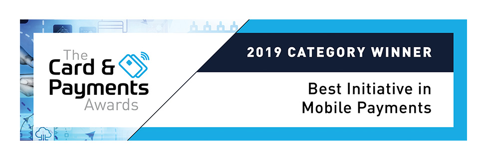 the card and payments awards, 2019 category winner, best initiative in mobile payments